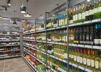 Auswahl an Weine und Spirituosen